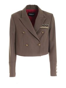 Dondup - Cropped jacket in Army green
