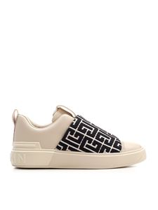 Balmain - B-Court sneakers in ivory and black