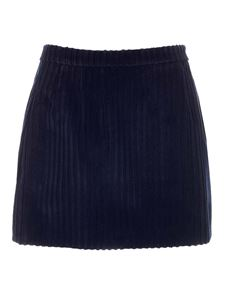 Red Valentino - Corduroy skirt in blue