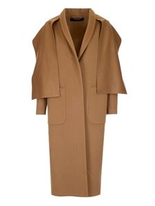 Federica Tosi - Coat with matching scarf in camel color