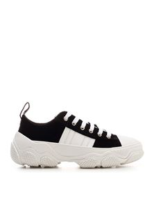 Red V - Glam Run sneakers in black and white