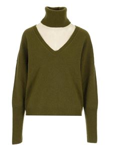 Federica Tosi - Cut-out turtleneck in green
