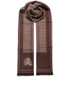 GABRIELE PASINI - Houndstooth scarf in brown