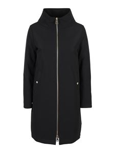 Herno - Stretch fabric padded coat in black