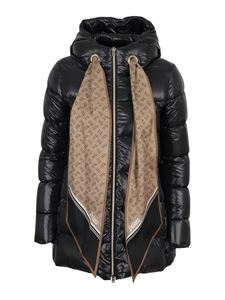 Herno - Scarf detailed puffer jacket in black