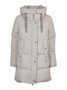 Moorer - Quilted puffer jacket in cream color