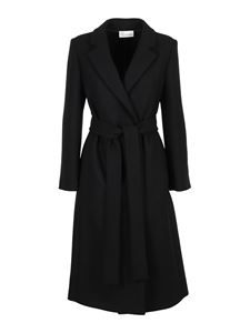 Red Valentino - Wool blend coat in black