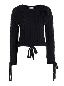 Red Valentino - Braided mohair blend sweater