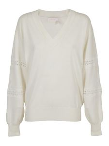 See by Chloé - Cotton and wool sweater in white