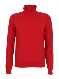 See by Chloé - Ruched collar sweater in red