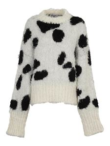The Attico - Cow patterned sweater in white