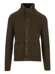 Tom Ford - Cardigan a coste verde militare