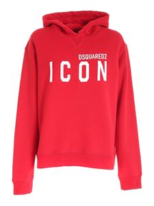 Dsquared2 - Icon print sweatshirt in red