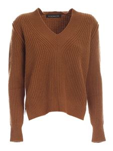 Department 5 - Bry asymmetric sweater in brown