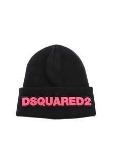 Dsquared2 - Logo embroidery beanie in black
