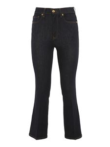 Tory Burch - Mid-rise bootcut jeans in blue