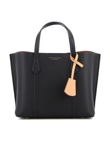 Tory Burch - Perry small leather tote bag in black