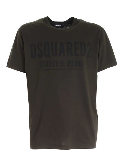 Dsquared2 - T-shirt verde con stampa logo