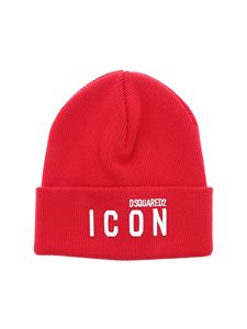 Dsquared2 - Icon embroidery beanie in red