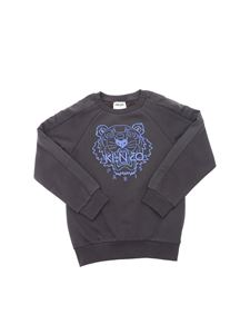 Kenzo Kids - Tiger embroidery sweatshirt in anthracite color