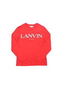 Lanvin Kids - Long sleeves branded T-shirt in red