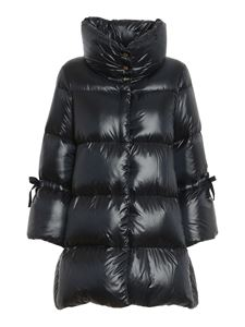 Herno - Faux fur down jacket in blue