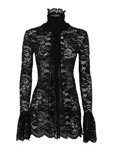 Paco Rabanne - Lace turtleneck in black