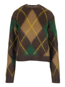 Kenzo - Argyle sweater in brown