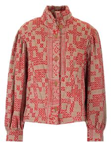Forte Forte - Jaquard jacket in red and beige
