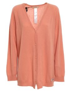 TWINSET - Cardigan in misto cashmere rosa