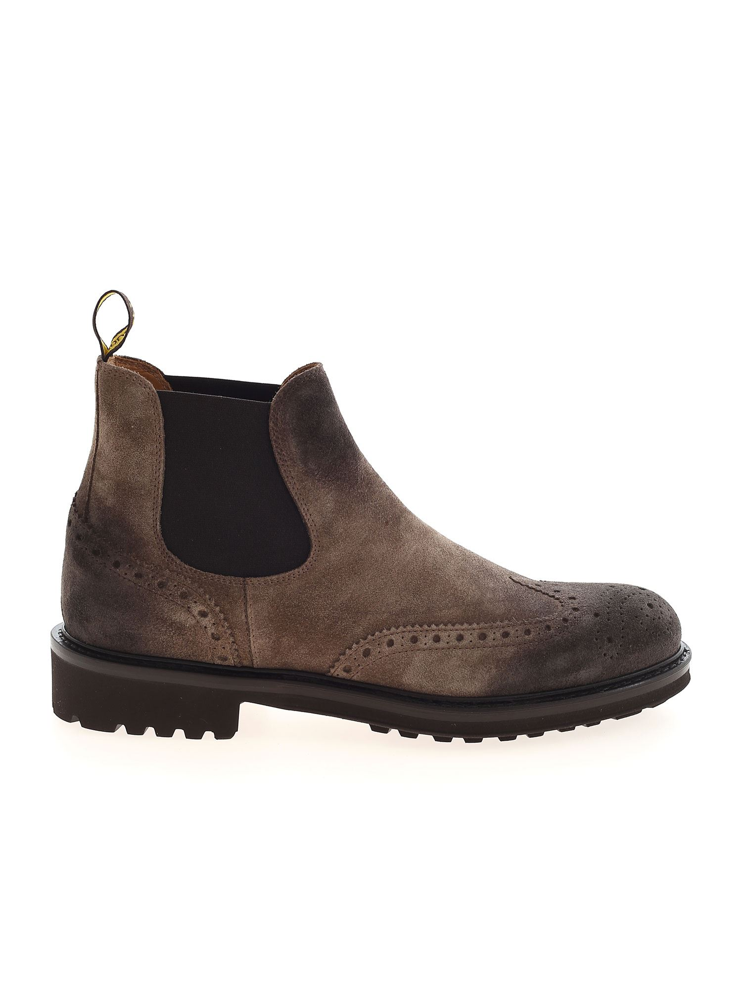 Doucal's Chelsea Boots In Coffee Color In Beige