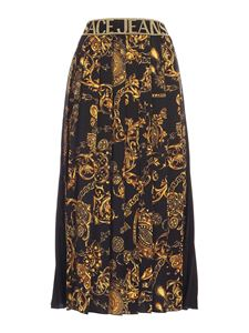 Versace Jeans Couture - Baroque print pleated skirt in black