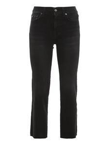 7 For All Mankind - Jeans The Straight Crop neri
