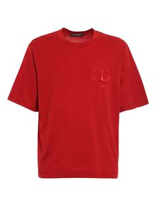 Dolce & Gabbana - Embossed logo T-shirt in red