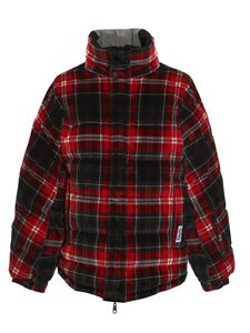 Dolce & Gabbana - Reversible checked puffer jacket in red