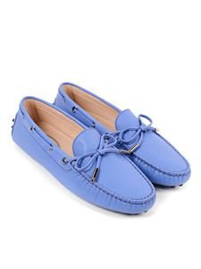 Tod's - Heaven leather loafers in light blue