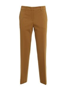 TWINSET - Viscose blend trousers in camel color