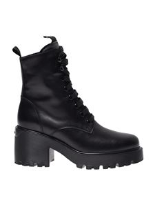 Hogan - Lace up ankle boots in black