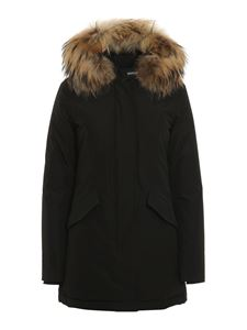 Woolrich - Arctic Raccoon padded parka in black
