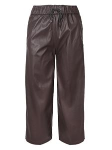 Fabiana Filippi - Synthetic leather pants in brown