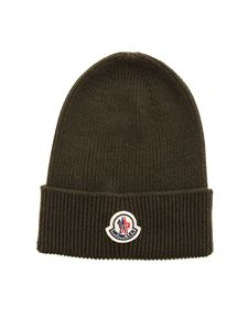 Moncler - Ribbed beanie in green