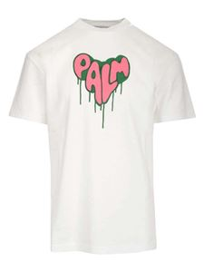 Palm Angels - Spray Heart T-shirt in white
