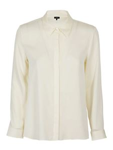 Theory - Silk shirt in ivory color