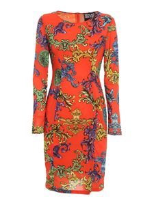 Versace Jeans Couture - Baroque printed dress in red