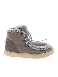 Mou - Lace up ankle boots in grey