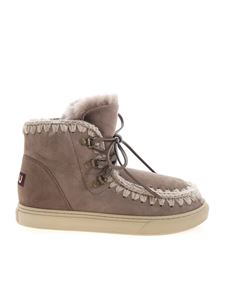 Mou - Lace-up ankle boots in dove grey
