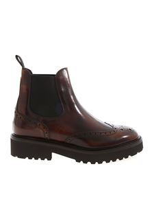 Doucal's - Chelsea boots in Brandy color