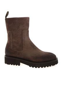 Doucal's - Suede ankle boots in Coffee color