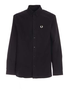 Fred Perry - Patch pocket shirt in black