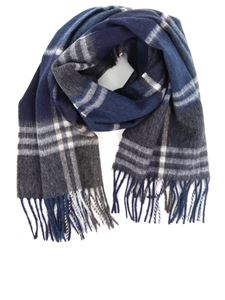 Barbour - Kindar Check scarf in blue and grey